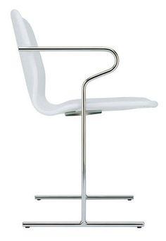 Contemporary chair with armrests NURMESNIEMI by Antti Nurmesniemi PIIROINEN //