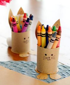 Printable Easter Activity Sheets for Kids with Upcycled Bunny Crayon Holders