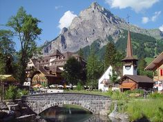 Town of Kandersteg - Switzerland - Switzerland is one of the most beautiful countries in the world.