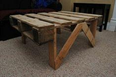 Table de palettes en bois