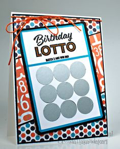 Stamping as Fast as I Can! Birthday Card, Scratch Off Birthday Card