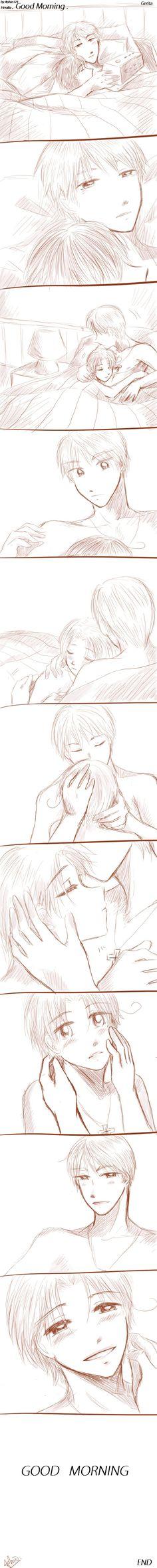 -Gerita--Hetalia--GOOD MORNING-- by aphin123.deviantart.com on @deviantART