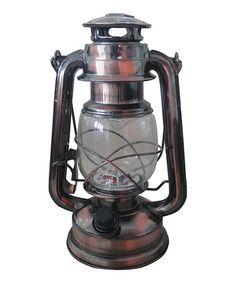 Look what I found on #zulily! Brass Vintage Electric Hurricane Lantern #zulilyfinds