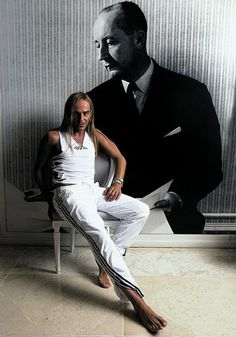 John Galliano :) forever my favorite. A master of fashion. You know nothing if fashion if you haven't been in live with this man your whole working life. I was a teen when I started following him. Thank him for my crazy outfits in school :)