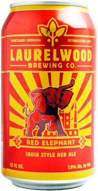 【アメリカビール】ローレルウッドレッド・エレファント(缶) 355ml  甘い香りがするが、苦みが強烈。好きじゃない。