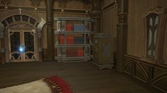 Riviera Bookshelf: A sophisticated wooden bookshelf designed in the riviera fashion. Comes complete with a selection of seafarers' journals and recipe books. | Level: 48 Armorer