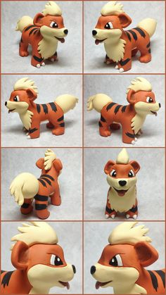 Growlithe Sculpture by LeiliaClay.deviantart.com on @DeviantArt