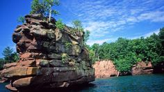 The Apostle Islands National Lakeshore, located in Lake Superior, off the Bayfield Peninsula in northern Wis. provides regionally diverse and unique plant communities. Over 800 plant species occur within the lakeshore. Good examples of the sea caves of the Great Lakes are also located on the shorelines of the Apostle Islands.