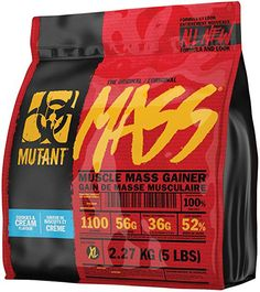 Mutant Mass Weight Gainer Protein Powder - Build Muscle Size and Strength with 1100 Calories - 56 g Protein - g EAAs - g of BCAAs - 5 lbs - Chocolate Fudge Brownie Muscle Mass, Gain Muscle, Protein Shakes For Women, Fudge Flavors, Coconut Protein, Mass Gainer, Chocolate Fudge Brownies, Makeup Bag Organization, Natural Protein