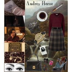 A fashion look from October 2012 featuring textured knit sweater, synthetic jacket and checked pleated skirt. Browse and shop related looks. Audrey Horne, Fashion Looks, Polyvore, Shopping