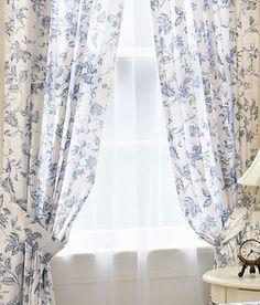 blue toile curtains