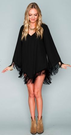 Show Me Your Mumu Rodeo Dress.... Love the fringe, but it's so short I would wear it with shorts or pants under