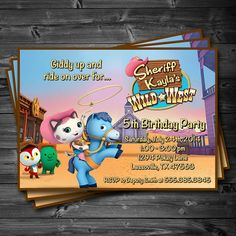 Sheriff Callie's Wild West Birthday Party - Printable Custom Invitation by KatiePaigeDesign