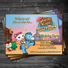 Sheriff Callie's Wild West Birthday Party - Printable Custom Invitation