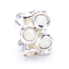 Bella Fascini White Opal Rounds - Swarovski Crystal Stones - October Birthstone - - Solid Sterling Silver European Charm Bracelet Bead - Compatible Brands: Authentic Pandora, Chamilia, Moress, Troll, Ohm, Zable, Biagi, Kay's Charmed Memories, Kohl's, Persona & more! Bella Fascini Beads,http://www.amazon.com/dp/B009BXLR5O/ref=cm_sw_r_pi_dp_ASuQsb0JWKPKQD0R
