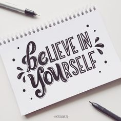 "1,173 Likes, 23 Comments - Ora Siripin (@oraarts) on Instagram: ""Believe in yourself & always BE YOU! ✨ 44/365 of my project! #orahandlettering #365daysoflettering…"""