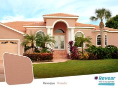 Stucco has been used in one form or another on both exterior and interior wall surfaces for millennia. Modern stucco combines beauty and durability with low maintenance. Stucco Repair, Stucco Siding, Stucco Homes, Brick Driveway, Pintura Exterior, Mediterranean Architecture, Mediterranean Homes, California Homes, Exterior Paint