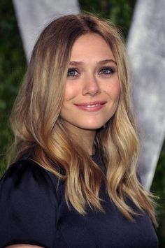 hair color idea. elizabeth olsen.