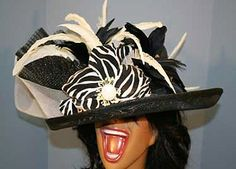 kentucky-derby-hat  have to get in the animal print!