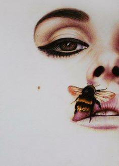 Lana Del Rey - Born To Die by im-sorry-thx-all-bye on DeviantArt Sad Tattoo, Born To Die, Maquillaje Halloween, Bee Art, Illustration, Beautiful Artwork, Amazing Artwork, Traditional Art, Art Inspo