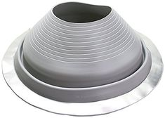 Grey Silicone Round Base Pipe Flashing Master Flash 9, Pipe Range 9' to 19' (228.6mm to 482.6mm) >>> Click on the image for additional details.