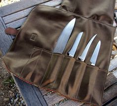 Chef Knife Roll Sewing Pattern PDF:   for the sharps during travel ...otherwise they're happily staged on the magnetic knife rack