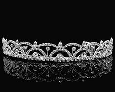 Rhinestone Bridal Wedding Prom Tiara Crown With Crystal Arches 5511 (Silver) ** Want additional info? Click on the image.