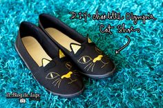 DIY Shoe Refashion: DIY Charlotte Olympia Cat Shoes