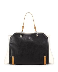 Jillian tonal faux-leather tote - NM Last Call $37!