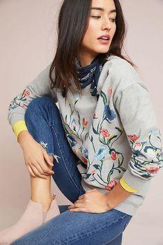 Slide View: 1: Sundry Embroidered Sweatshirt