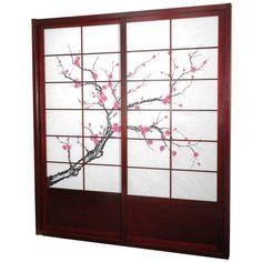 Sliding shoji doors shoji doors going from open kitchen into the 'dining room/family room' area.