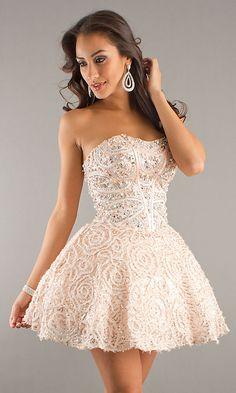 Short pink sweet sixteen party dress