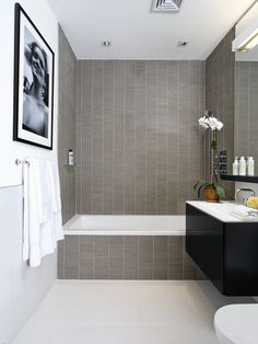 like the floating shelf above the basin also like the simplicity of everything Bathroom Design, Pictures, Remodel, Decor and Ideas - page 49