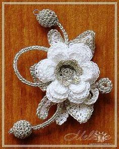 Crochet Lace Flower Motif Knitting Ideas For 2019 Crochet Brooch, Freeform Crochet, Irish Crochet, Crochet Motif, Crochet Doilies, Crochet Lace, Crochet Stitches, Crochet Earrings, Crochet Roses
