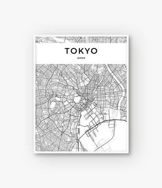 Cool Tokyo map art print! Instant download from Etsy! This would look awesome framed. Tokyo Map Print, Tokyo Print, Tokyo Poster, Tokyo Wall Art, Tokyo City Map Poster, Japan Print, Japan Map, Tokyo Decor, Map of Tokyo #ad #japan #tokyo #travel #art #wallart #maps #etsyfinds
