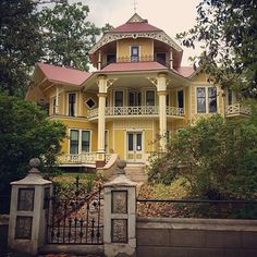 The 1885 Lapham-Patterson House in Thomasville, GA.  So attractive and welcoming, and wonderful setting.  I want a room in the top tower.