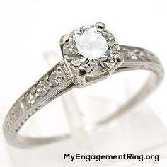 antique engagement ring - My Engagement Ring