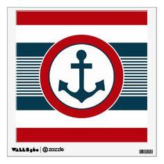 Nautical design wall decal - blue gifts style giftidea diy cyo