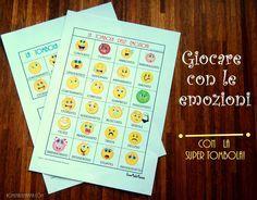 Imparare i nomi delle emozioni giocando a tombola!