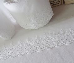 14 yards Embroidery Cotton Eyelet Lace Trim by naturalbalcony, $15.99
