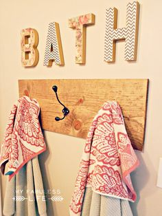 Guest Post: My Fabuless Life - DIY BATH Letters - The Golden Sycamore