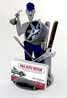 Auto Mechanic Business Card Holder