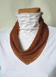 scarf neckerchief solitaire beaded Beaded Necklaces necklace
