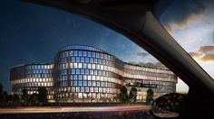 Budapest ONE Office development - Architectural Animation Architectural Animation, 3d Architectural Visualization, Build A Better World, Real Estate Development, Worlds Of Fun, Landscape Architecture, Budapest, Skyscraper, Exterior