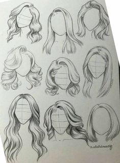 hair sketch ~ hair sketch & hair sketch tutorial & hair sketch easy & hair sketches girl & hair sketch tutorial step by step & hair sketch male & hair sketch anime & hair sketching Girl Hair Drawing, Girl Drawing Sketches, Cool Art Drawings, Pencil Art Drawings, Drawing Tips, Easy Drawings, Tattoo Sketches, Drawing Techniques, Drawings Of Hair