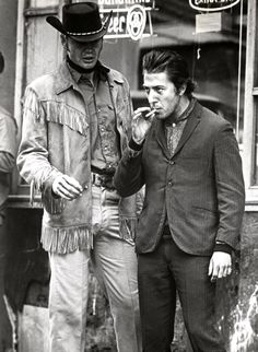 Jon Voight and Dustin Hoffman in Midnight Cowboy...such a great film.