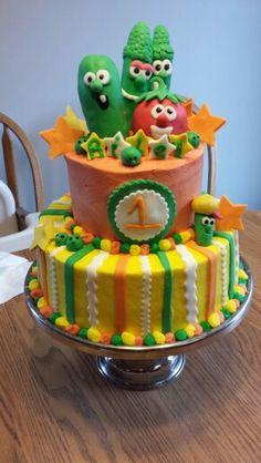 My veggie tale cake!