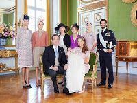 June 8, 2014  Christening of Princess Leonore - Official pictures The official pictures of Princess Leonore and her family have been released shortly after her christening.