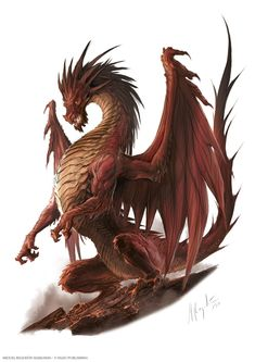 The new illustrations for the Pathfinder Dragons on the Edition Bestiary. So happy I had the chance to do the art for these iconic creatures. Fantasy Monster, Monster Art, Dark Fantasy Art, Fantasy Artwork, Dragon Illustration, Dragon Tattoo Designs, Dragon Tattoos, Dragon Artwork, Mythical Creatures Art