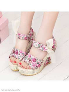 Cheap Women's Sandals, Buy Directly from China Suppliers:Women Shoes Female Sandals Summer Wedges Women's Sandals Platform Lace Belt Bow Flip Flops Open Toe high-heeled Lace Up Wedge Sandals, Lace Wedges, Lace Heels, Silver Sandals, Open Toe Sandals, Wedge Shoes, Women's Sandals, Floral Sandals, Floral High Heels